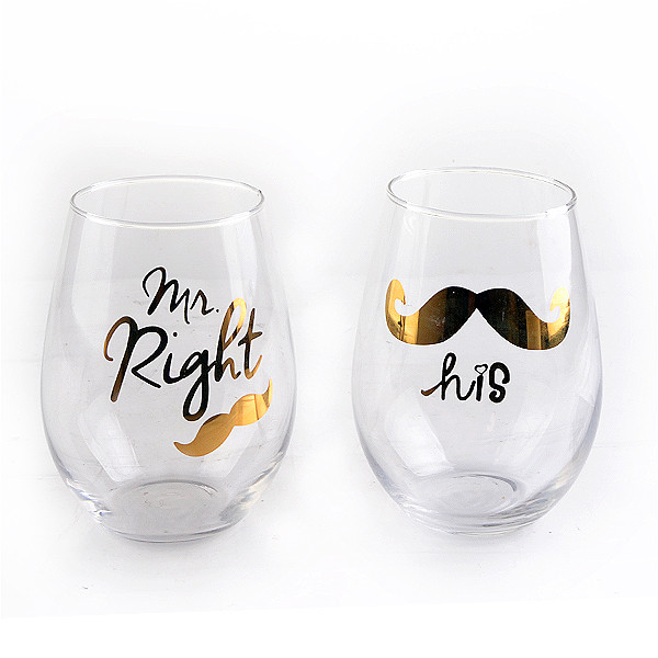 Fancy Mr Right o La Sua decal acqua potabile vetro