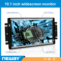 10.1 Inch Open Frame LCD Monitor with 4-wire resistive touch