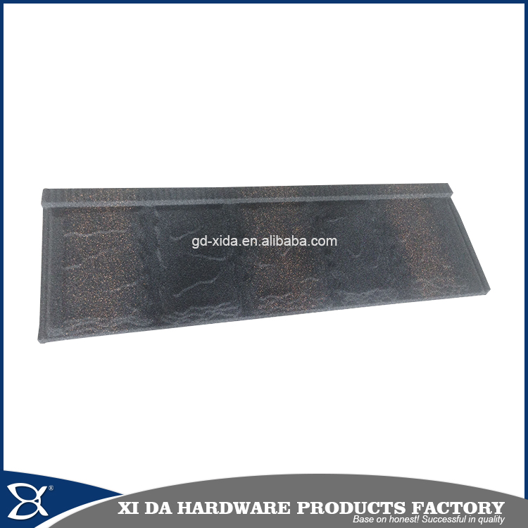 Angle edge colorful stone coated metal roofing tiles/metal corrugated tile roofing