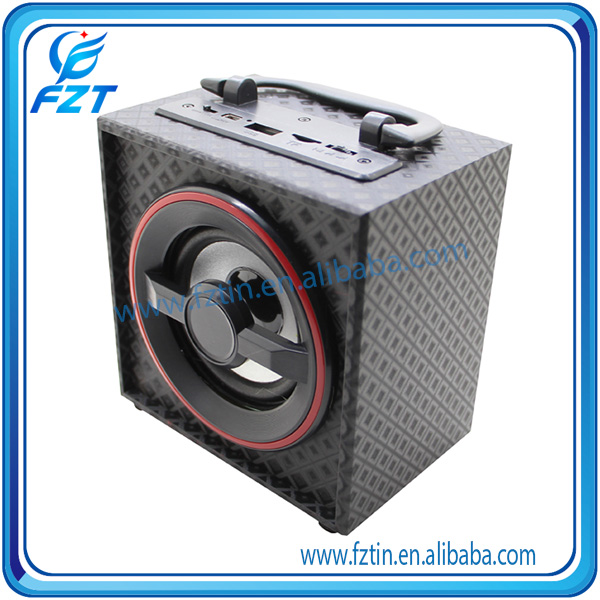 2017 Hot sale dual horn speaker cabinet wood UK-53 portable speaker with excellent quality
