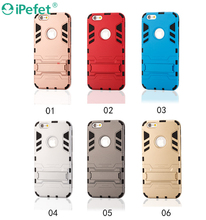 iPefet- Hot Selling All in one PC Hard shell Silicone Armor Mobile phone case with Kickstand for iPhone 6s