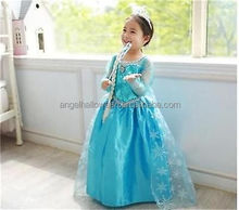 Childrens princess elsa costume deluxe frozen elsa costume for sale FC2135