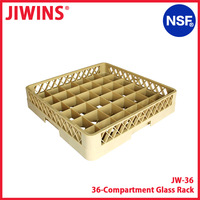 NSF Listed 36-Compartment Warehouse Glass Rack Glass Washing Rack