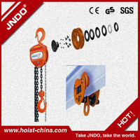 Specifications of Chain Block, Manual Chain lifting Block