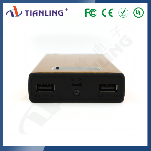 High quality double USB 13200 mah universal portable LCD power bank