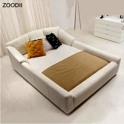 Korea style hot sale leather bed for bedroom decorate
