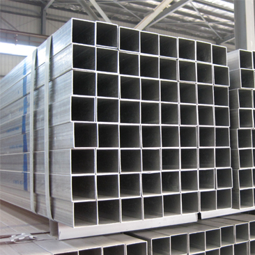 galvanized square tube shipped from Tianjin port shs mild steel