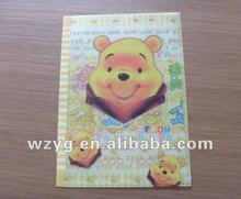 cartoon picture plastic PVC L-shaped file folder