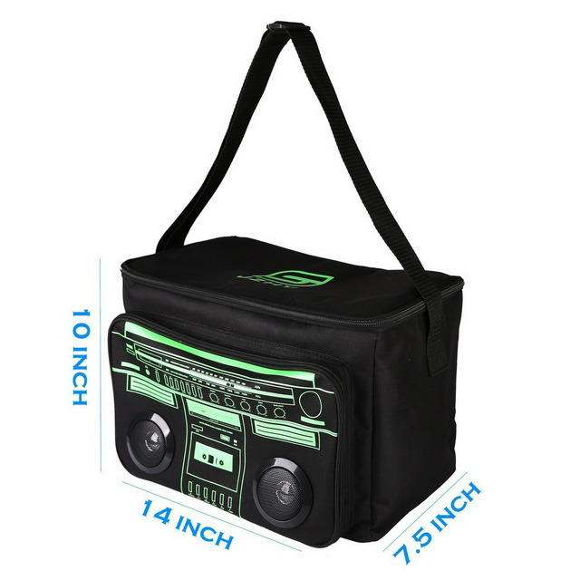 Waterproof large insulated cooler bag with chargeable speaker for picnic