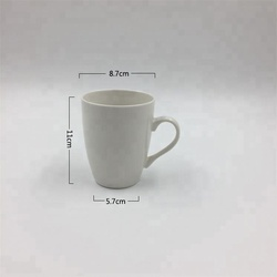 12oz 350ml Best selling porcelain big drum type mug white blank ceramic mug