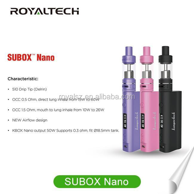 Newest Arrival Electronic cigarette subox mini 50w starter kit VV&VW Mod kbox nano subtank nano,subox nano kit VS CUBE 2.0 TFV4