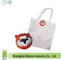 New style 190T tiger shaped ECO friendly shopping tote bag / promotion bag