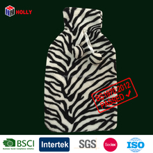 zebra pattern hot water bottle polar Fleece Cover