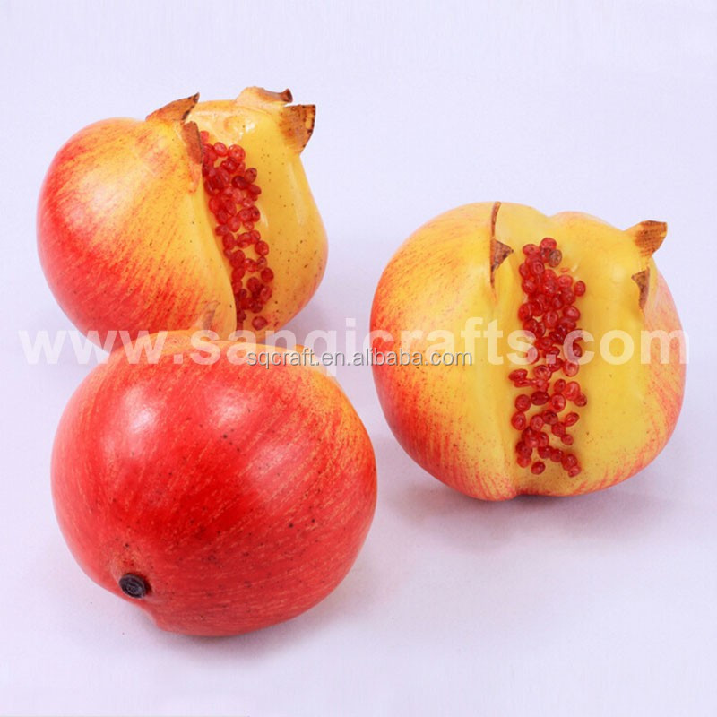 Plastic decorative pomegranate fruit for Christmas /Yiwu sanqi craft factory