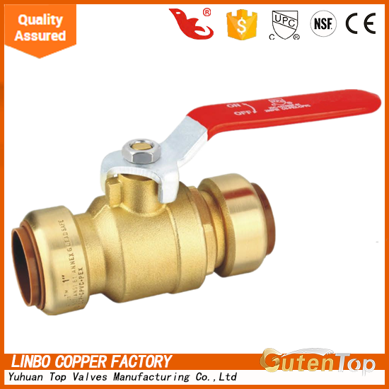 Guten Top Hot Sale Push Fit Fitting High Pressuren 4 Inch Ball Valve handles with <strong>iron</strong>