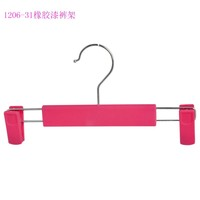 Custom brand luxury adjustable colors kids plastic pants hangers