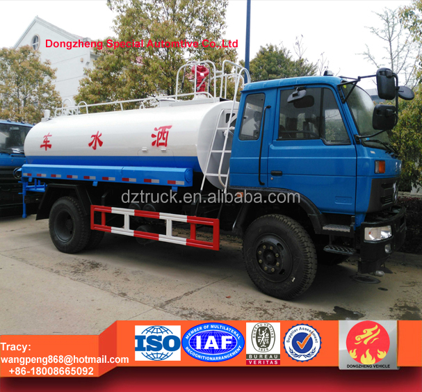 dongfeng 10000liters water sprinkler with fire monitor, fire fighting water pump truck for sale