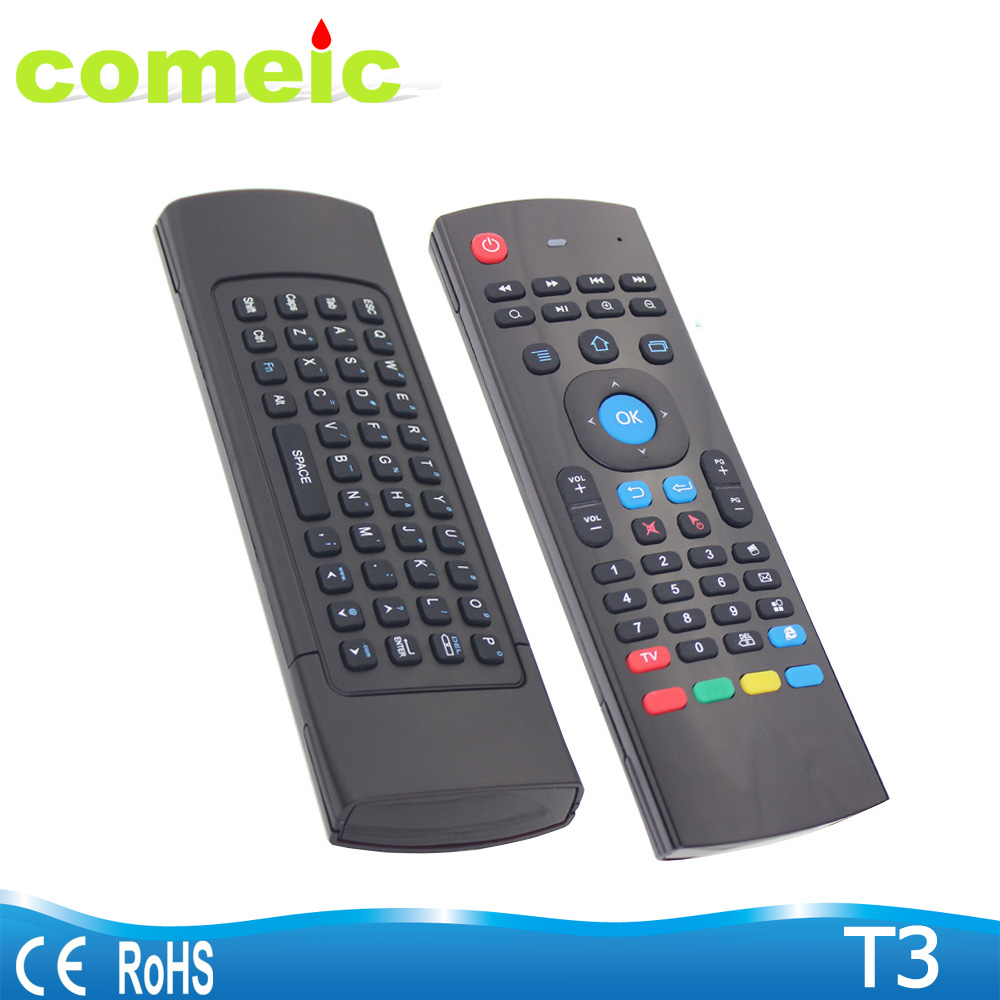 T3 Wireless Air mouse with keyboard IR remote control for smart tv iptv