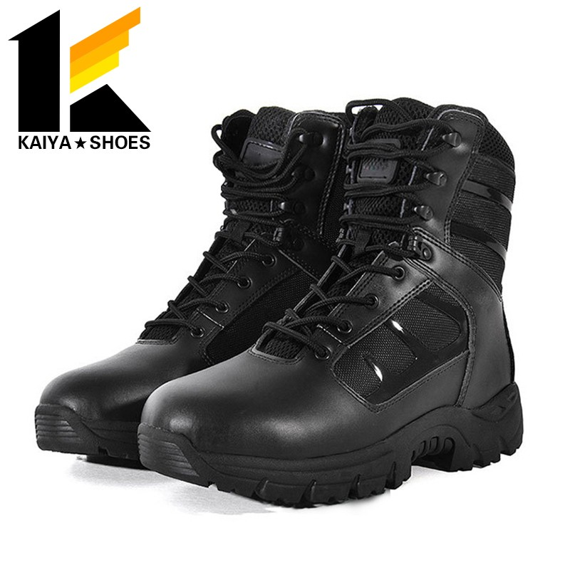 Tan Military Tactical Boots , Army Combat Boots Fitting Asian Foot