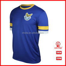 Custom football shirt 100% polyester Chinese soccer uniform manufactures