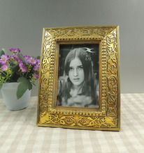 Resin Photo Frames Antique Gold Hand Carving Picture Frames