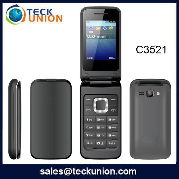 C3521 2.4inch Hot Selling Dual Sim Flip Mobile Phone