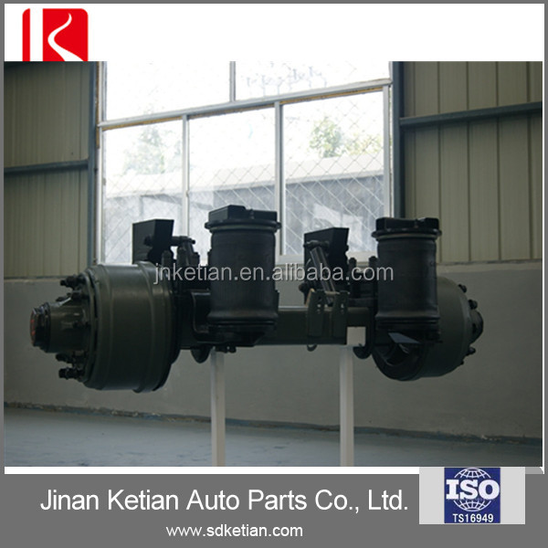 Lift axle air suspension for trailer