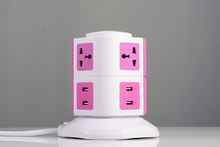 Electric item cheap and safe home use 7 - gang socket outlet with individual switch