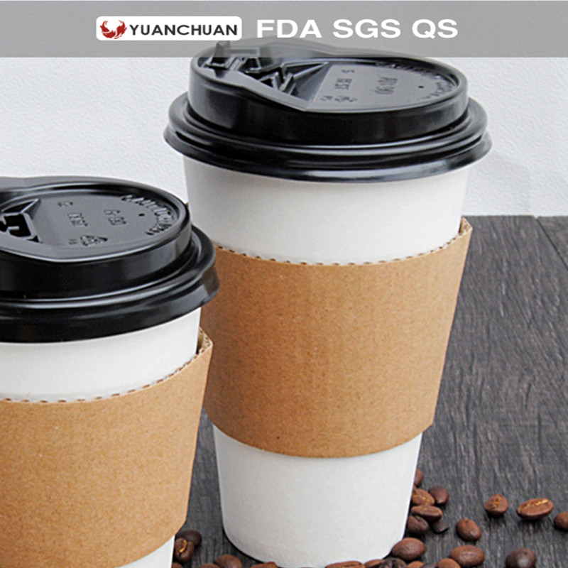 Wholesale corrugated brown paper cup sleeve