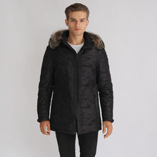 Parka jacket casual men's clothing outerwear male overcoat wadded jacket