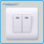 home 10A 250V EU/IEC standard 2 gang 1way mini switch