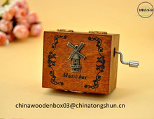 Merry christmas printed wooden music box for gift