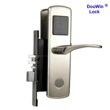 Remote control battery operated hotel gate lock unlock with key card