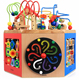 New Style Kindergarten Activity Play OEM Wooden Educational Magic Beads Cube
