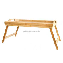Modern appearance and dining table specific use bamboo folding bed tray