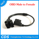Black 16 Pin OBD 2 Splitter Adapter Extension Cable Male to Dual Female Y Connector