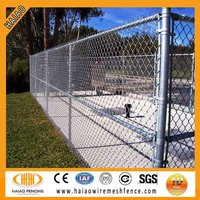 High security & low price barbed wire chain link fence