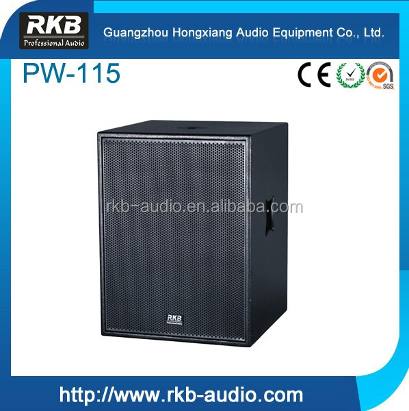 PW-115 15 inch pro box subwoofer box