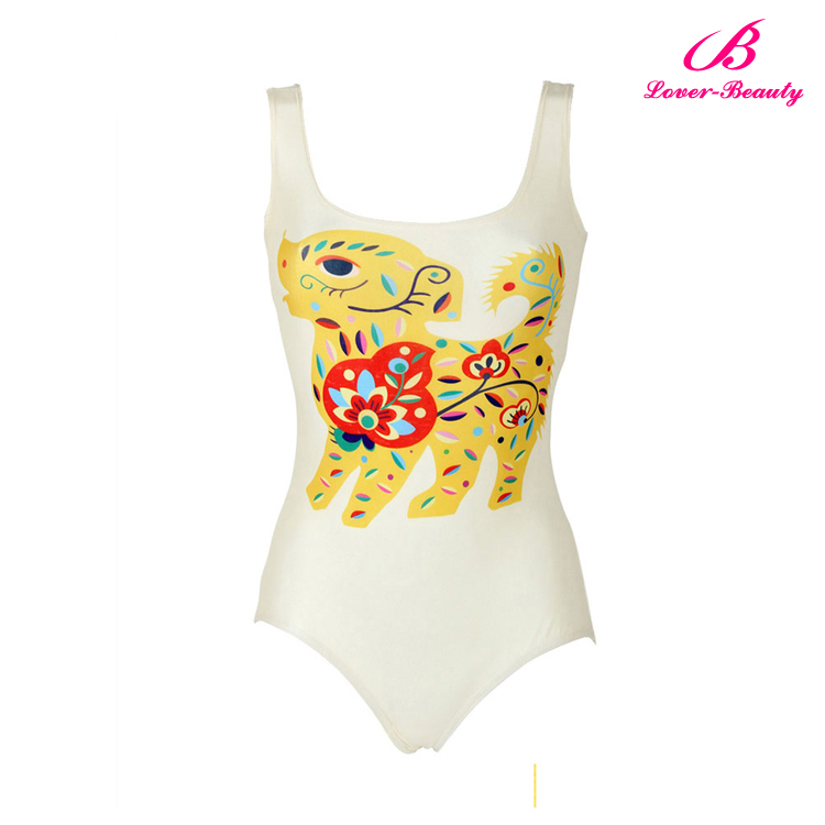 Girls high cut one piece transparent swimsuit for beach