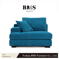 Leisure modern european style fabric combination living room furniture sofa set