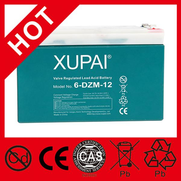 "Hottest 12v ""XUPAI"" battery sealed lead-acid battery 12v for vehicle"