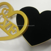 2016 Heart Shape Wood Carving Craft