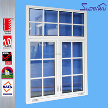 Superwu Waterproof white color Aluminum Casement Window Aluminium double glazed windows & doors