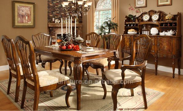 american antique cherry wood dining room sets