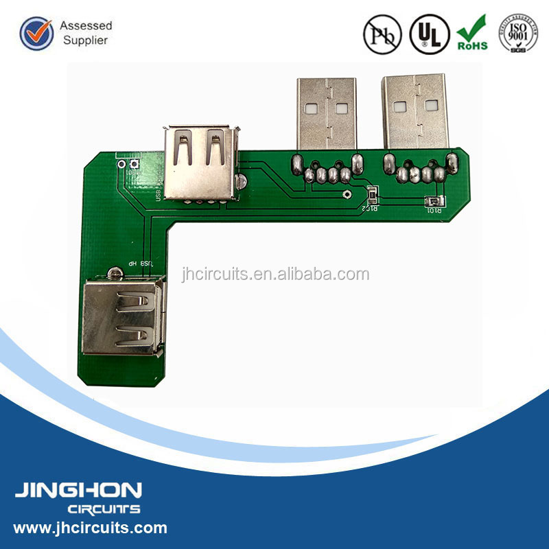 Custom pcb design 4 port usb hub pcb pcba board assembly