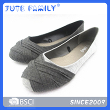 Good quality latest design ladies leather soles flat foot shoes