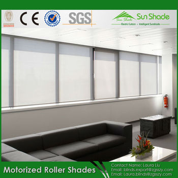 Somfy brand motor 50mm aluminum up tube thickness for Motorized roller shades price