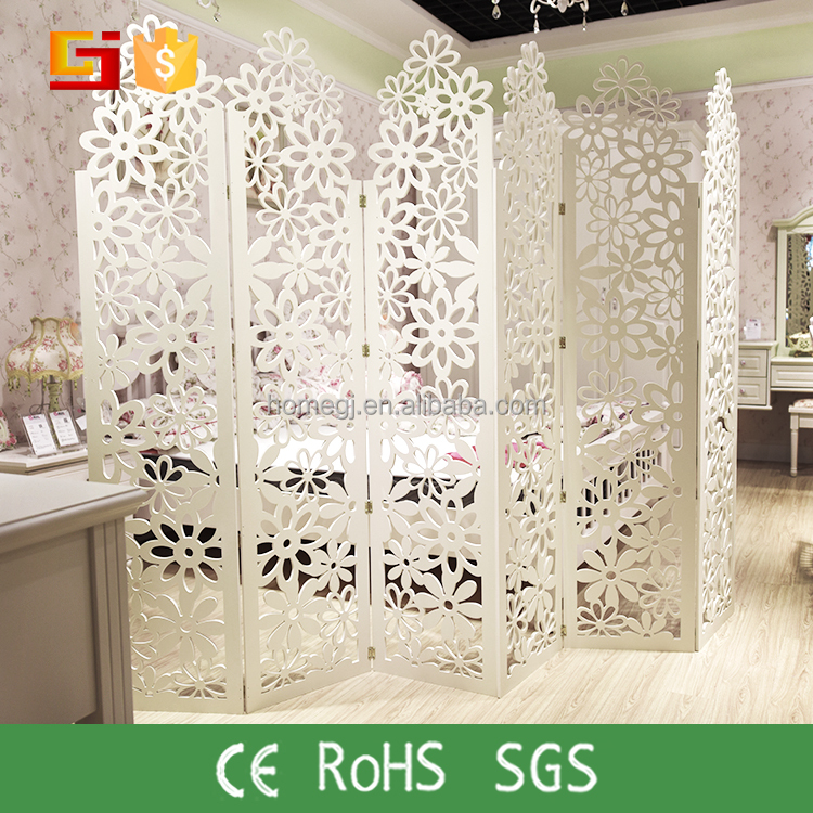 HOME-GJ Direct Factory cheap dressing hanging room divider partition screen