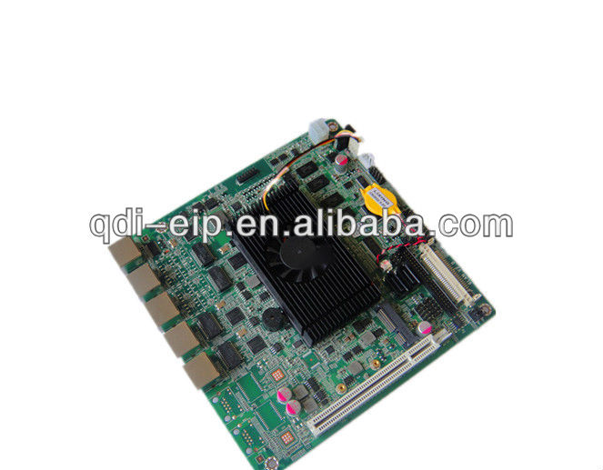 Intel ATOM D525 Embedded Mini ITX 4 Ethernet Ports Motherboard For Firewall