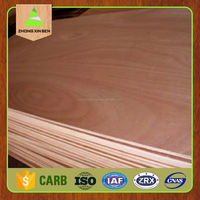 Factory prices 18mm thick standard size kuering/okoume plywood